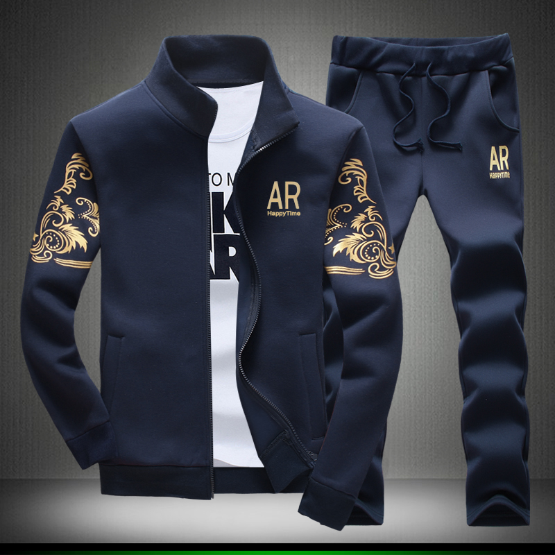 Mens AR Happy Time Blue Tracksuit Set Free shipping ... e2e15f59ac395