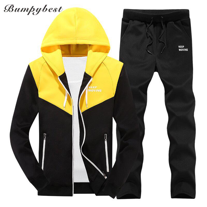 order super cheap temperament shoes Bumpybea Mens Tracksuit Yellow & Black