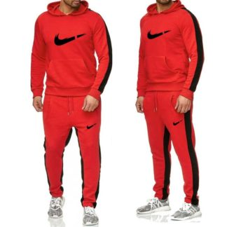 nike red treacksuit